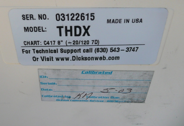 Dickson THDX Temperature, Humidity & Dew Point Chart Recorder