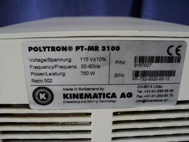 Kinematica Polytron PT-MR 3100 Homogenizing and Dispersing Unit