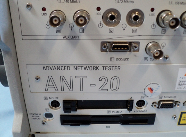 WG JDSU Acterna ANT-20 Advanced Network Tester with Optical Power Splitter