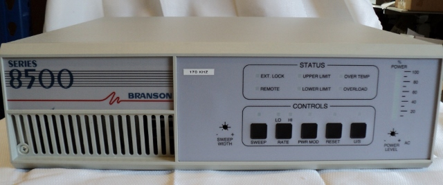 Branson Series 8500 Ultrasonic Model S-85170-12 Generator / Power Supply, 170kHz