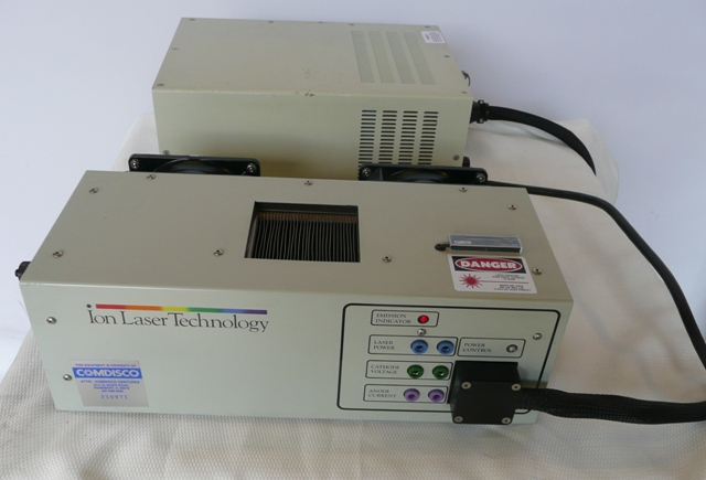 Ion Laser Technology ILT 5490A Air-Cooled Argon Laser with 5400A Power Supply