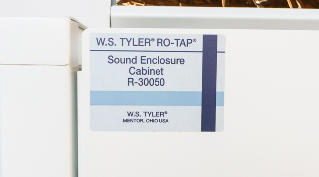 W.S. Tyler Ro-Tap Shaker RX-29 with W.S. Sound Enclosure Cabinet 8 inch Diameter Sieves