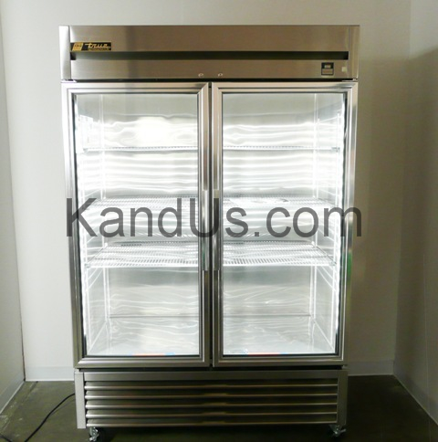 True Manufacturing TS-49G-LD Double Glass Door Deli Style Refrigerator